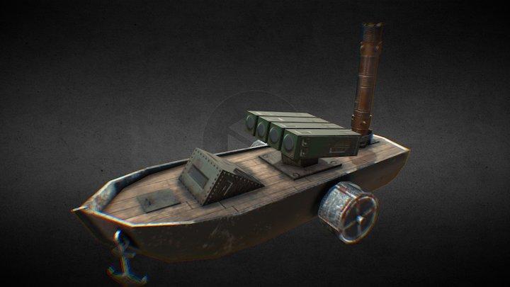 Rocket boat (Bot) for Water world MMO 3D Model