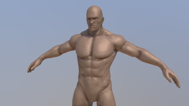 Male Apose Character 3D Model