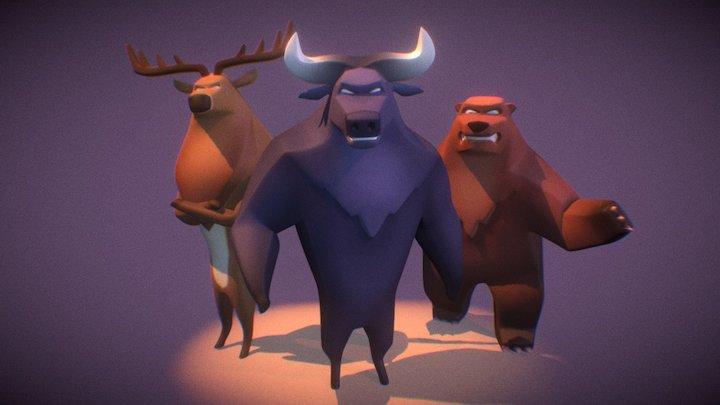 Wild Crew 3D Model