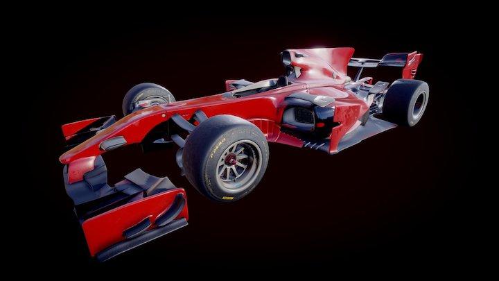 F1 Concept Car 3D Model