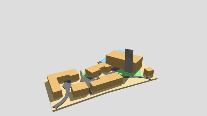 Outdoor Village Map 3D Model