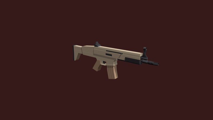 FN SCAR MK16 3D Model