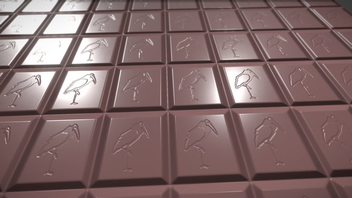 "Chocolate Texture - Norwegian ""Freia"" 3D Model"