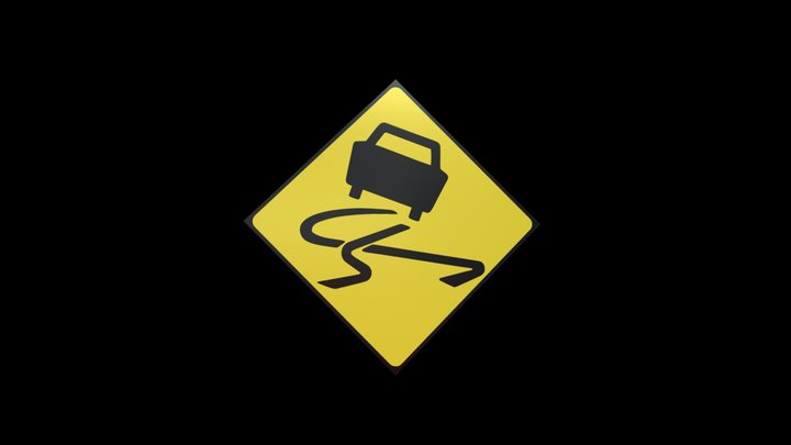 GIVE ME A SIGN - SLIPPERY WHEN WET 3D Model