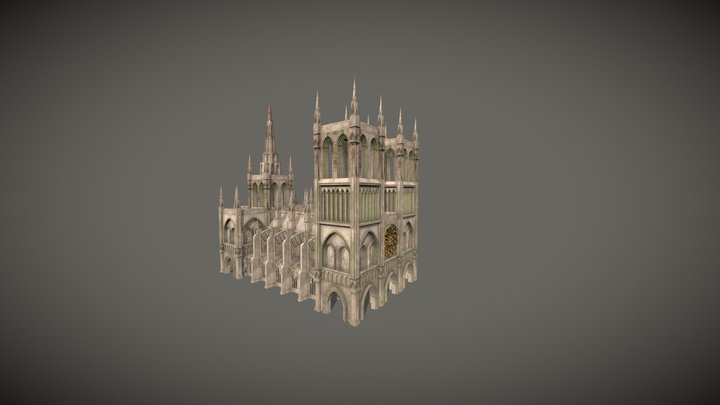 Cathedral Low Poly 3D Model