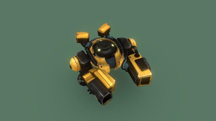 Dron Wasp 3D Model