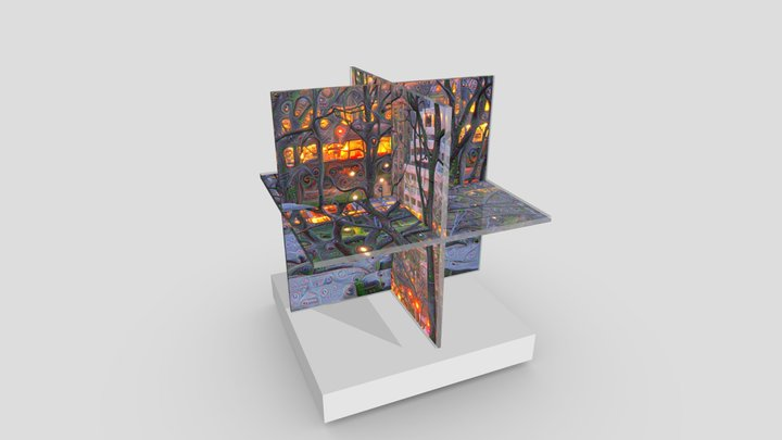 Mining Nightfall (NYC): Intersecting Planes 3D Model