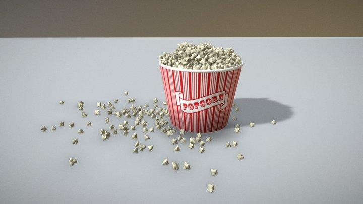 Popcorn Bucket 3D Model