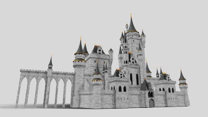 Fantasy Castle 002 3D Model