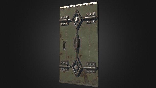 Bunker Door Large 3D Model