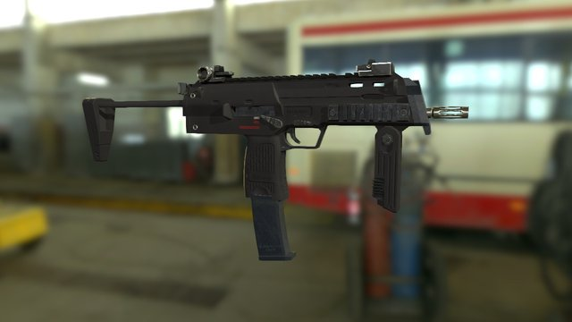 H&K MP7 A1 low-poly 3D Model
