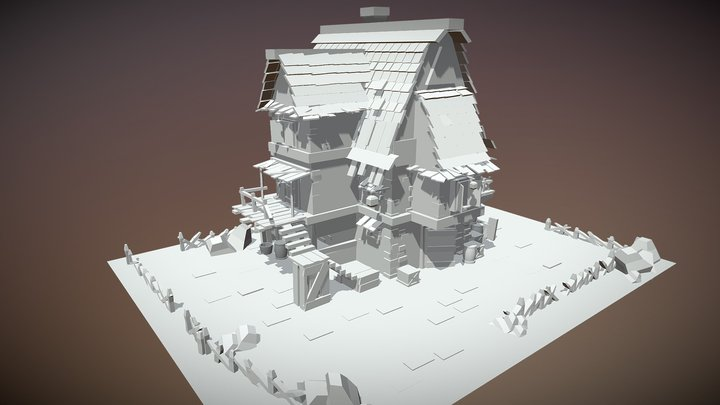 Medieval House modeling 3D Model