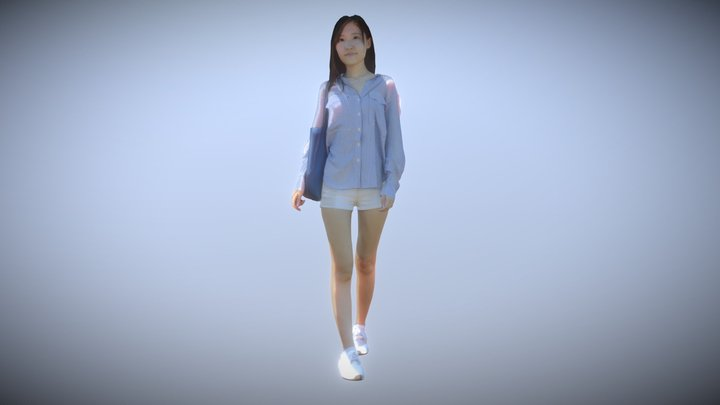 Woman Walking 3D Model