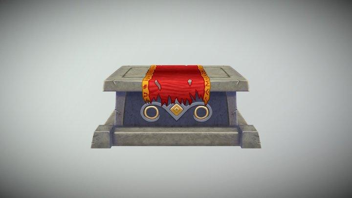 Handpainted Stone Altar 3D Model