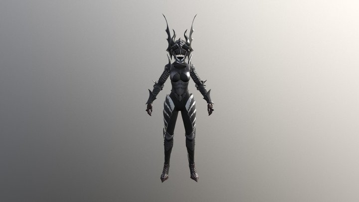 Delphin Outfits Dragon Knight Armor 3D Model