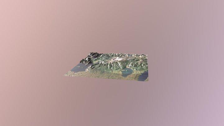 Volcanes Puyehue Cordón Caulle 3D Model