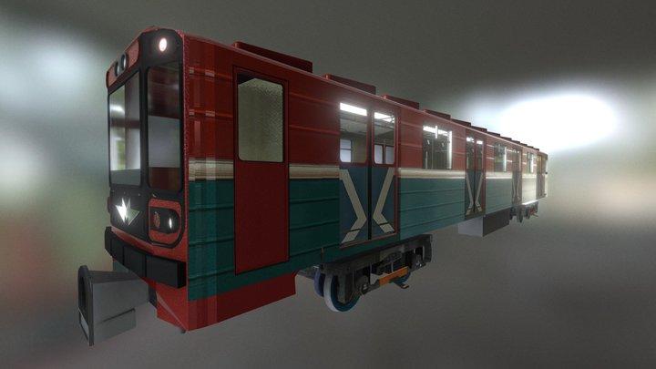 Metro Vagon Nomernoy 81-717/714 3D Model