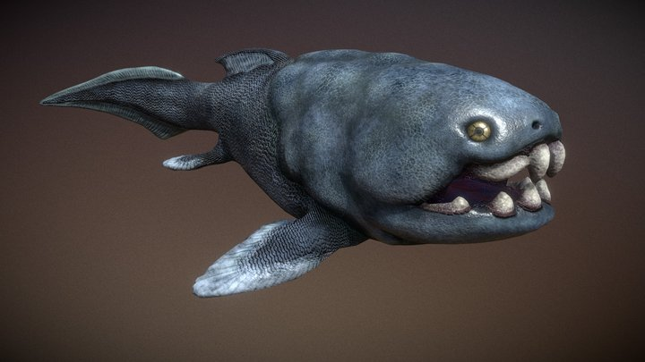 Donkleosteus Fish 3D Model