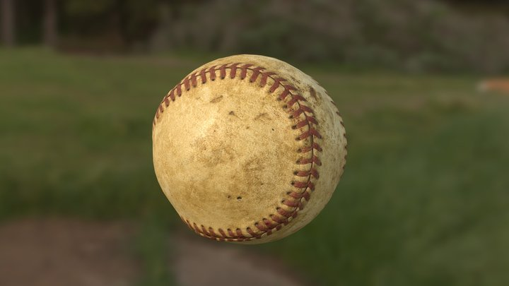 Baseball, Old and Bruised 3D Model