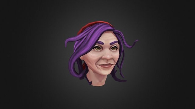 Handpainted Head 3D Model