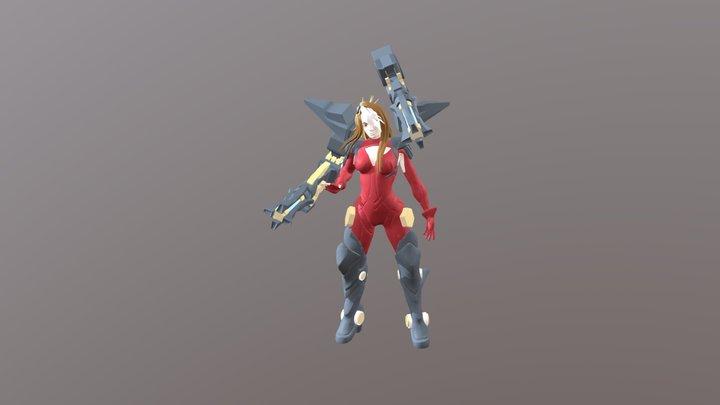 Miss Fortune Goddes gun. Galaxy league. 3D Model