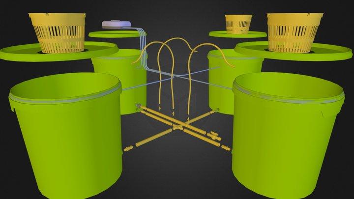 aquapot_trio.dae 3D Model
