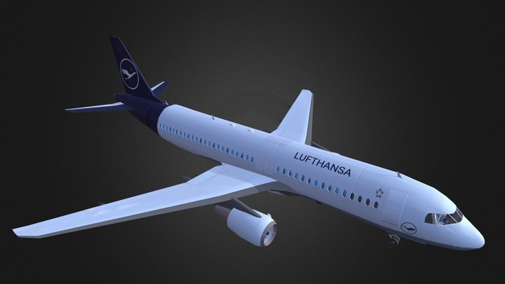 A320-200 with cockpit (ver VIII) 3D Model