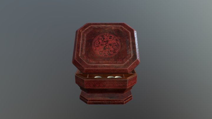 Chinese tableware 3D Model