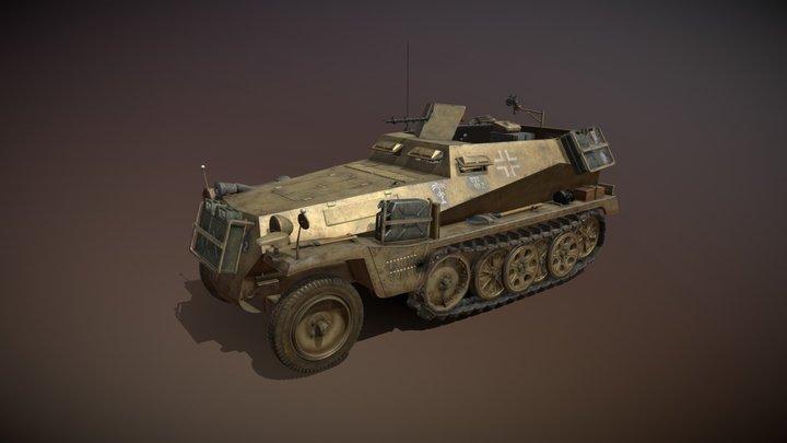 SD.KFZ 250/1 - Halftruck  - 10PD 3D Model