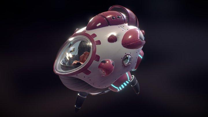 Skips Leg Day - Spaceship 3D Model