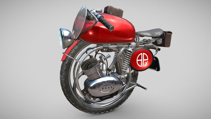 Monobike Red Speed 3D Model