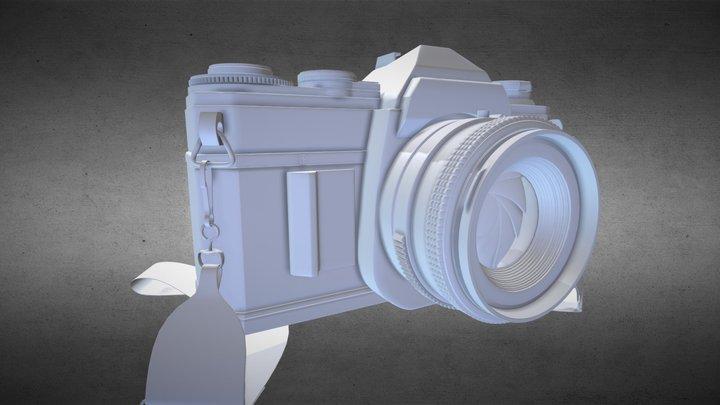 Vintage Canon Camera - High Rez 3D Model