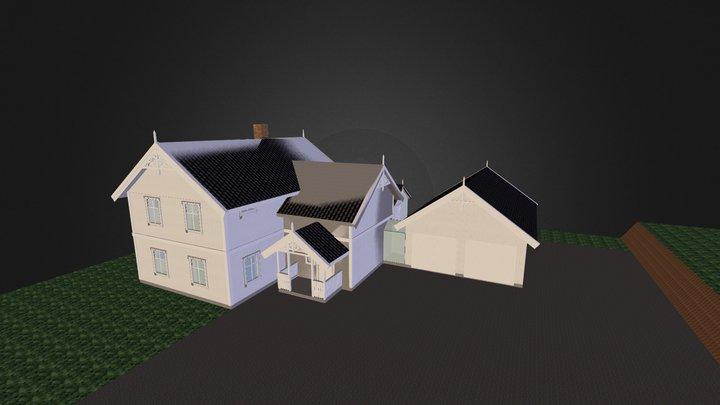 Spurven med tilbygg 3D Model