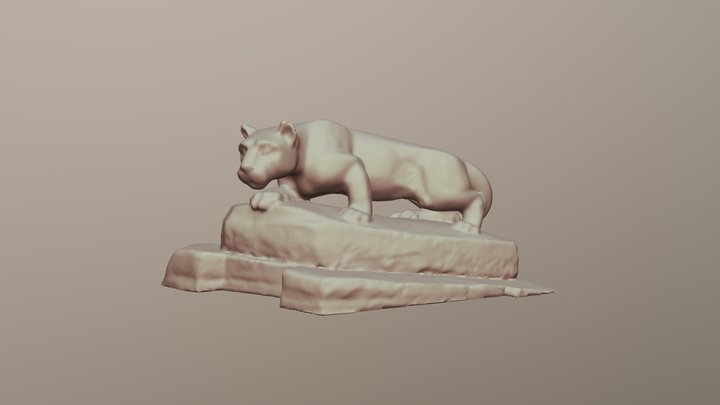 Nittany Lion 3D Model
