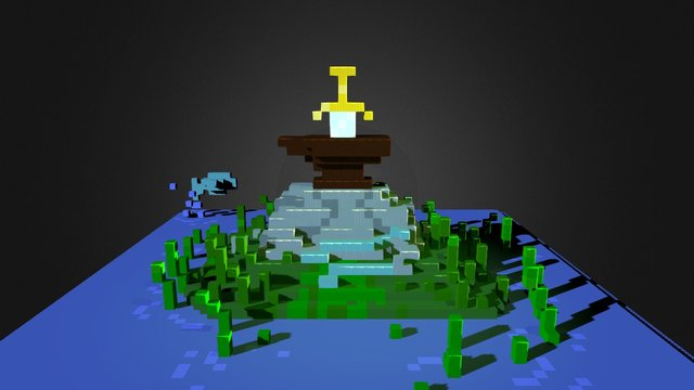 Sword And The Stone 3D Model