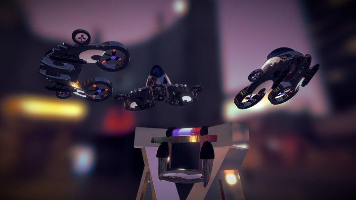 Police A.I digital station 3D Model