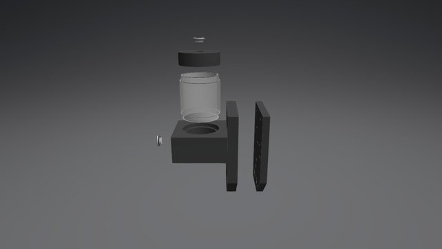 Ncase D5 Mount Assembly 3D Model