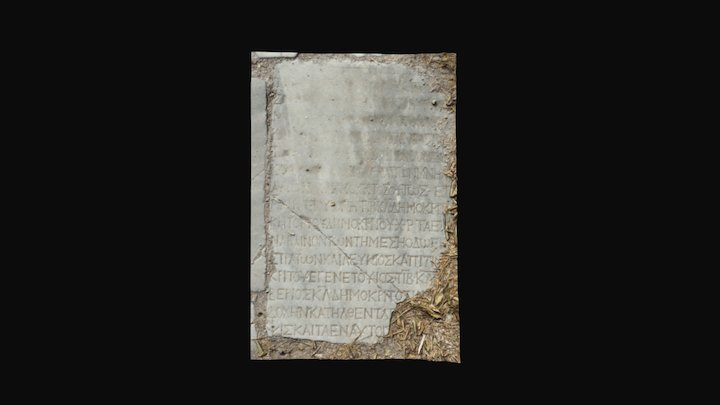 Ancient Agora floor inscription (Kos, Greece) 3D Model