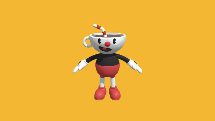 Cuphead By K. Flores 3D Model