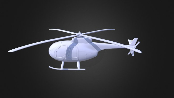 Huges 500 Helicopter 3D Model