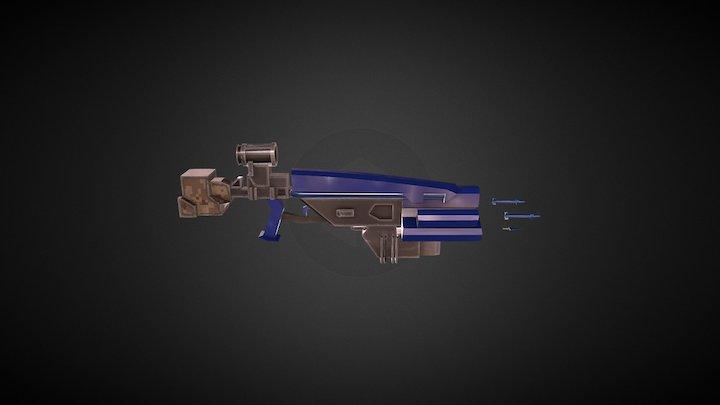 sci fi Gun 2.0 3D Model