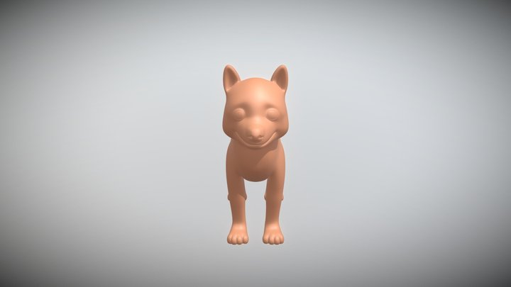 CGCookie Exercise: Model a Husky 3D Model