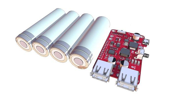 Charge 'n Boost Lipo 3D Model