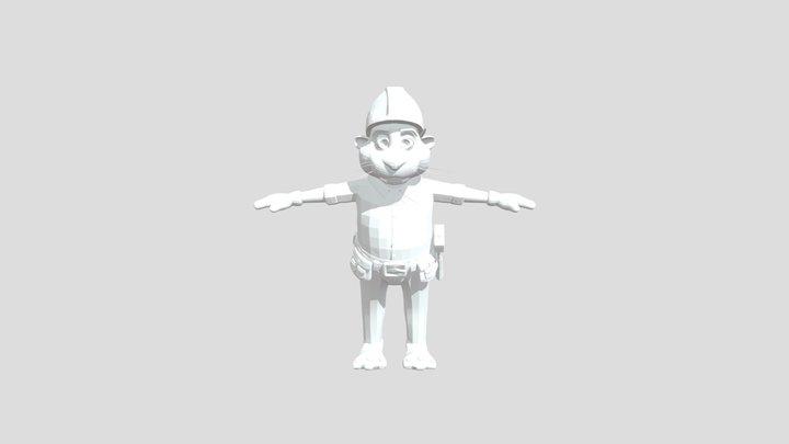 Mati the beaver - game character 3D Model
