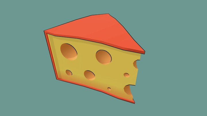 Cheese Toon 3D Model
