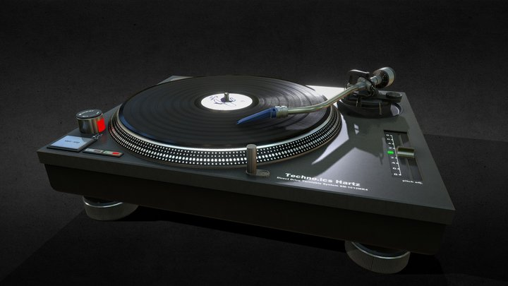 MK2 1210 Turntable 3D Model
