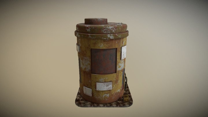 Rusted Water Tank 3D Model