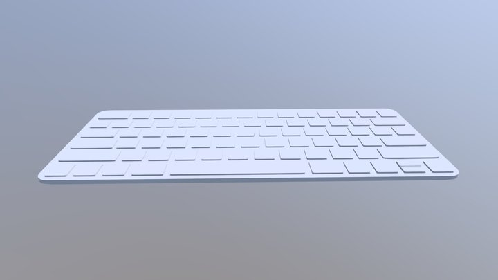 Mac Keyboard 3D Model
