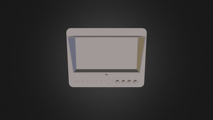 Monitor Obj File 3D Model