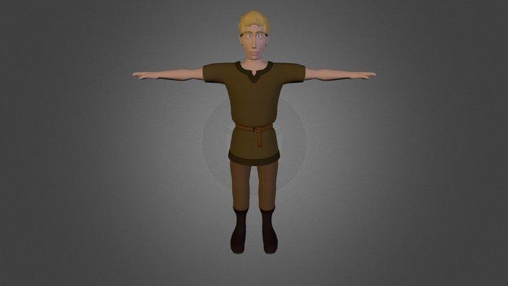 Villager Child 3D Model